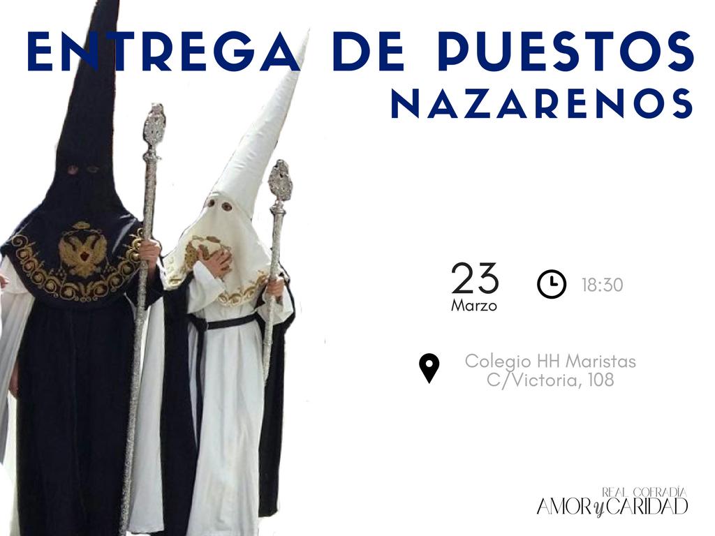 ENTREGA PUESTOS NAZARENOS 2018