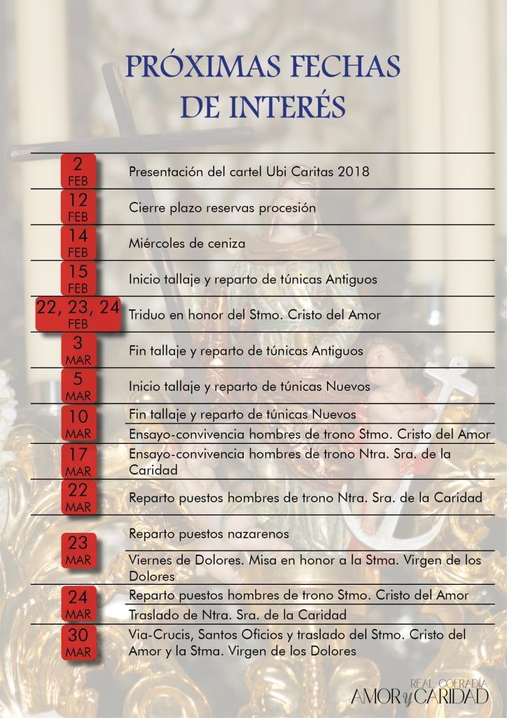 FECHAS DE CUARESMA 2018 - copia