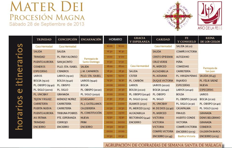 Horario Mater Dei