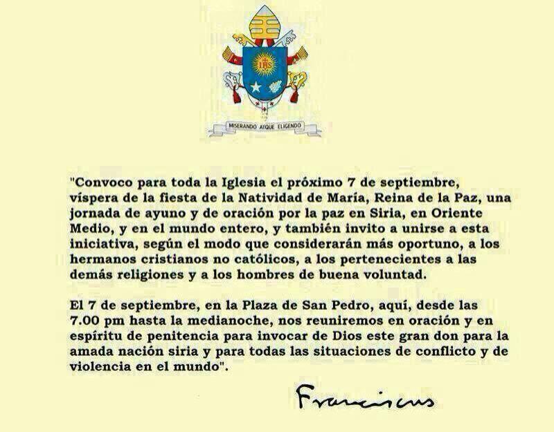 convocatoria papa francisco